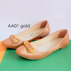 Sepatu Wanita Cewek Flat Shoes Aa01 Terlaris