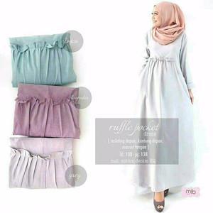 New ruffle dress Desain Menarik/ Nyaman Dipakai/ Simple