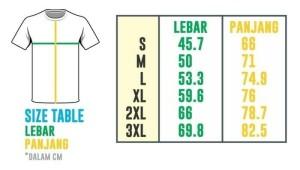 Kaos ukuran 2XL dan 3XL
