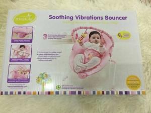 mastela soothing vibration bouncer pink