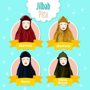 jilbab anak lucu bahan adem murah umur 1-5 tahun