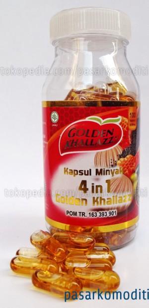 Golden Khallazz Isi 100 Kapsul Habbatussauda Zaitun Propolis Bawang Putih