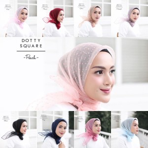 Hijab Organza Dot Rubiah original / SQUARE SEGIEMPAT SEGI4