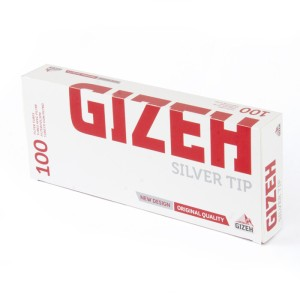 GIZEH Silver Tip (100 pcs) - Cigarette Filter Tube / Selongsong Rokok