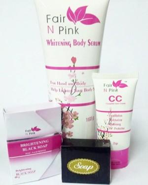 Paket Fair N Pink Body Serum + CC Cream + Black Soap ORIGINAL BPOM