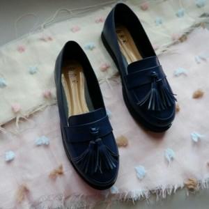 vintage tasel shoes navy