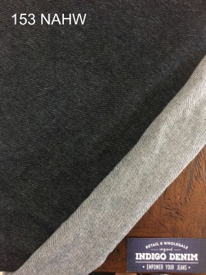 153 - Denim Black NonStretch Washed Tebal Kain Celana Jacket Jeans