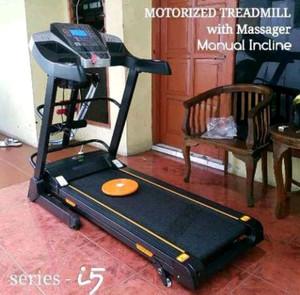Treadmill electrik i5 manual incline 5fungsi