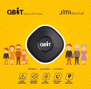 QBiT Personal GPS Tracker terkecil - wireless, compact, track by apps
