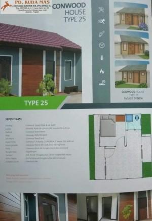 Jual Dijamin Rumah Conwood Conwood House Tipe 25 Kota Bekasi Kirana Ol Shop Tokopedia
