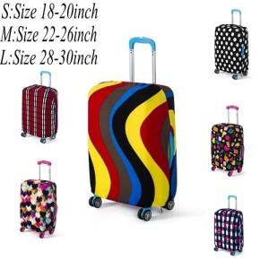 Cover Travel Bag Pelindung Koper Kain Elastis Motif Color size Medium