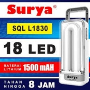 Surya Lampu Emergency SYT L101 Light LED 10 SMD + Senter Super LED 1W