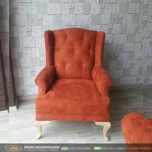Kursi Sofa Single Set Orange