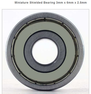 2 PCS MR63zz Mini Metal Double Shielded  Ball Bearings 3mm*6mm*2.5mm