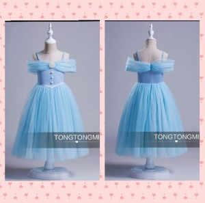 DRESS ANAK TONGMI SABRINA BLUE / DRESS PARTY