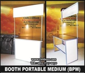Booth portable meja promosi meja lipat bongkar pasang & kokoh (medium)