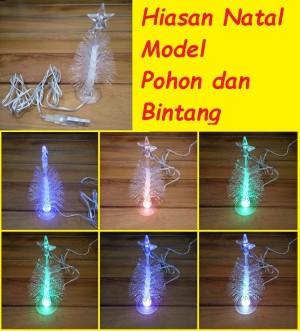 Lampu Hiasan Natal Model Pohon Bintang Warna Warni USB Tree Star Fiber