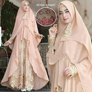 Baju Busana Muslim Wanita / Gamis Ceruty CKR Sumita Syari Coco Murah