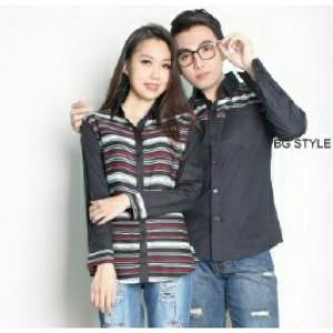 Romantic Black / baju couple / baju kemeja couple / kemeja formal coup