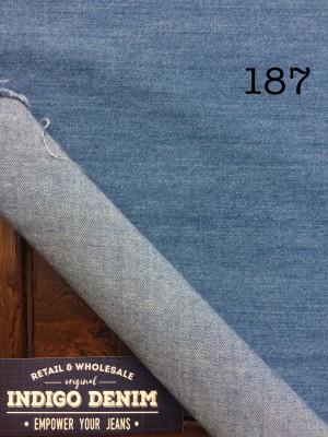 187 - Denim Biru Muda Ketebalan Tipis Bahan Kain Kemeja, Dress, Gamis