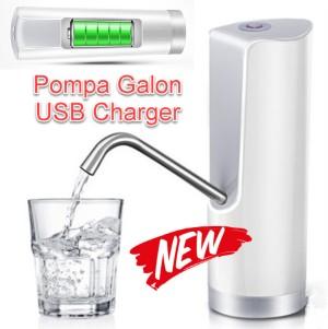 KS149 Pompa Galon Elektrik USB Charger Baterai Bisa di Charge Kayak HP
