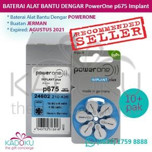 Baterai Alat Bantu Dengar PowerOne P13 Mercury-Free Hearing Aid Battery. Source · Baterai