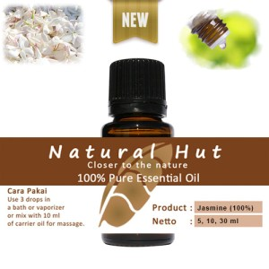 100% PURE ESSENTIAL OIL (100% JASMINE SAMBAC - MELATI) 5ml