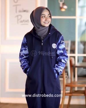 Jaket Muslimah HIJABER CAMOUFLASHION ROYAL BLUE HIJACKET