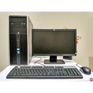 Paket Komputer Gaming Warnet HP compaq 8200 core i5 |LCD HP 19 wide