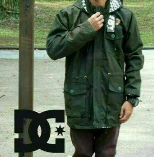 jaket parka kanvas cowok premium hijau army
