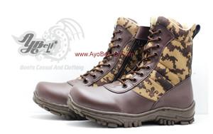 Sepatu Coklat - Sepatu PDL Loreng Pramuka A-022