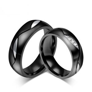Cincin Couple + Box Cincin bahan Titanium anti Karat & Hitam CC033