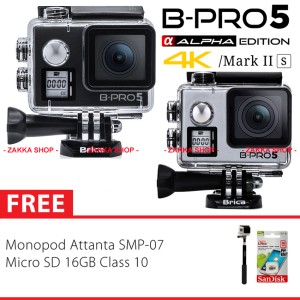 BRICA B-PRO 5 Alpha Edition 2S - AE 2S 4K Camera, Tongsis Attanta