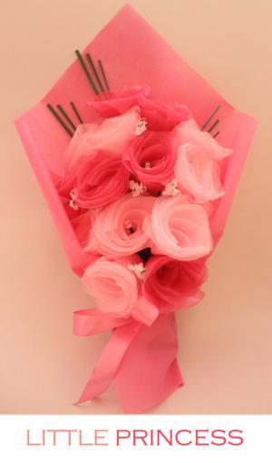 Jual Kue Murah Paket Kado Unik Rangkaian Bunga Mawar Menyala