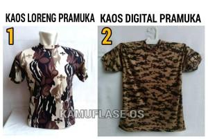 KAOS Oblong Loreng PRAMUKA Kaos loreng digital Pramuka
