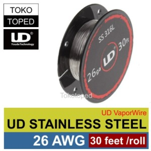Authentic UD Stainless Steel Wire 26 AWG | 0.4mm | vaporizer vapor rda