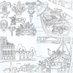 Fantasy Store Coloring Book Lucu Unik Kartun Langka