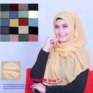 kerudung terbaru cantik wanita pasmina elif by azzura scarf