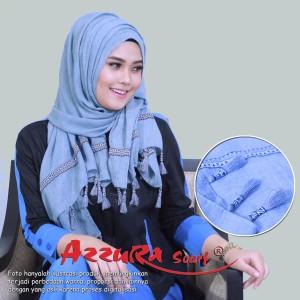 kerudung terbaru trendy wanita cantik pasmina TASSEL by azzura scarf