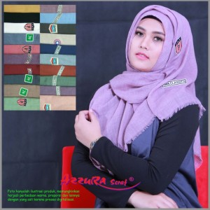 kerudung terbaru modern wanita cantik pasmina stiker by azzura scarf
