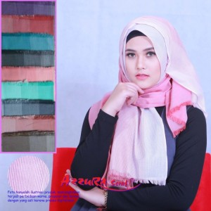kerudung terbaru trendy wanita cantik pasmina samosa by azzura scarf