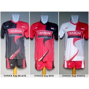 Setelan Badminton / Bulutangkis Yonex Y23 (Baju Kaos Celana)
