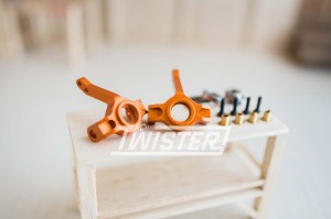 Xtra Speed Aluminum Front Knuckle Arm Orange For AXIAL SCX10