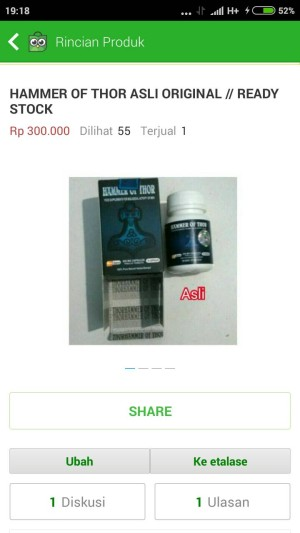 jual obat herbal hammer of thor asli original dinda herbalis
