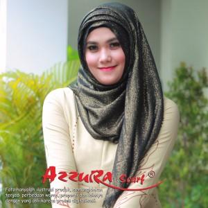 kerudung terbaru trendy wanita cantik pasmina GLITTER by azzura scarf