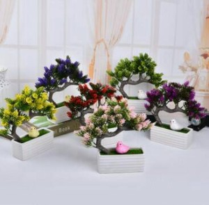 Bunga Bonsai Hias Hiasan Meja Artificial Mini