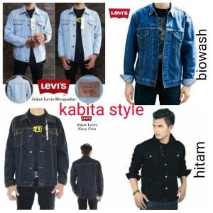 Jaket Jeans Pria Biru Pudar / jaket levis / jaket jeans pria