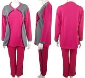 Baju Senam Muslim / Baju Olahraga / Baju Senam Grosir / YO504-Pnk, 4L