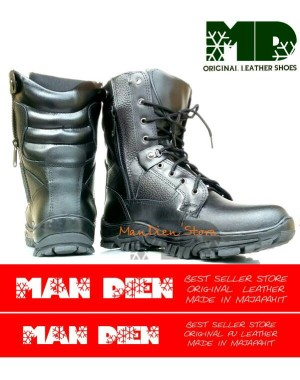 Sepatu PDL GEGANA Full Kulit H.Q | TNI | POLRI | SECURITY
