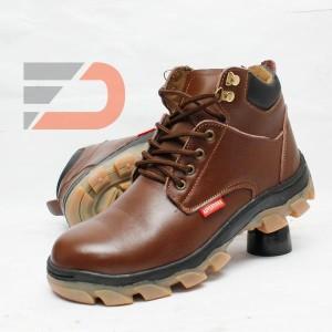 Sepatu Safety boot, kulit asli - DCollection Touring